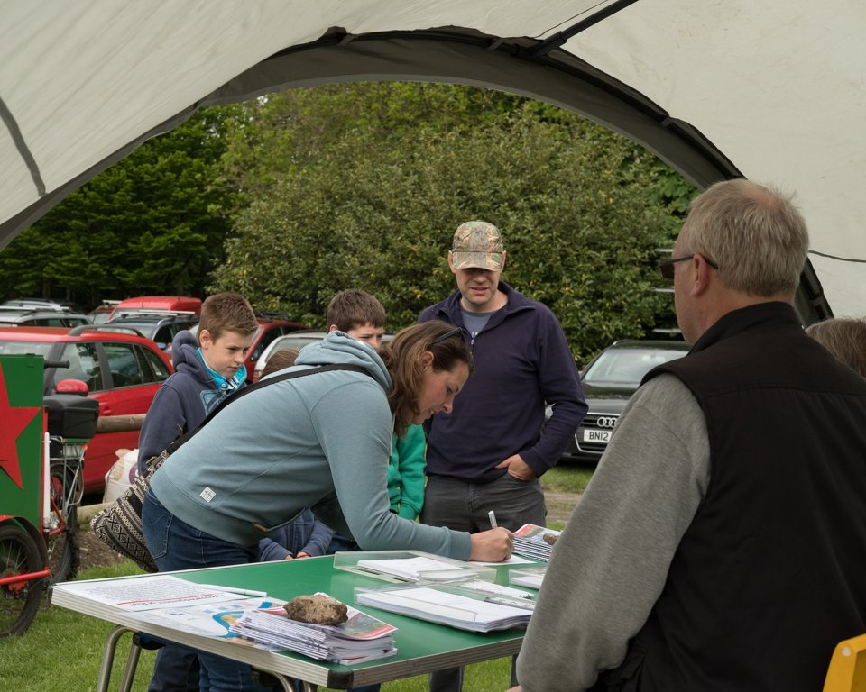 Signing in at the LOPC Open Day