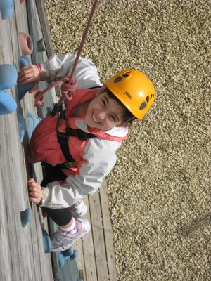 NICAS  Level 1 Learning to Climb at Leicester outdoor Pursuits Centre