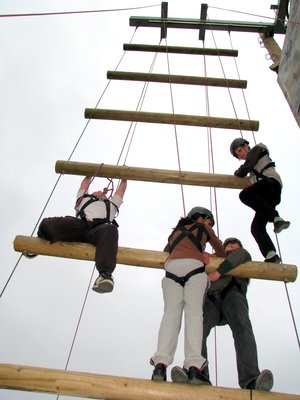 High ropes team building leicester