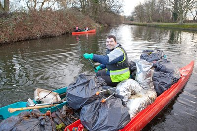 Leicester Litter Picking on the River Soar