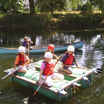 Raft Building on the Holiday Scheme
